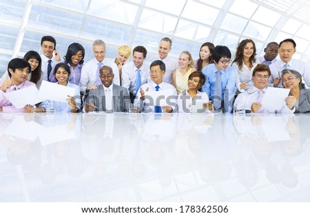 Group of Diverse Business People Meeting in Office - stock photo