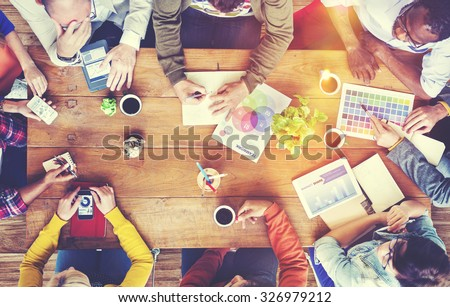 Group of Diverse Designers Having a Meeting Concept - stock photo