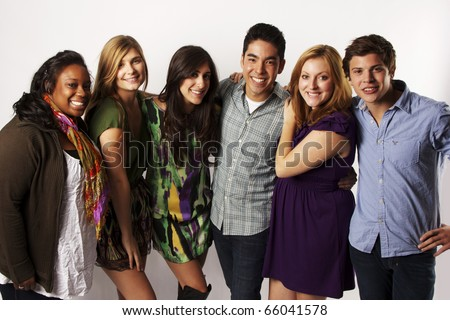 group of diverse friends - stock photo