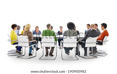 Group of Diverse Multiethnic People in a Meeting - stock photo