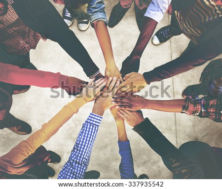 Group of Diverse Multiethnic People Teamwork Concept - stock photo