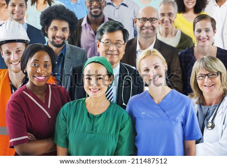 Group of Diverse People with Various Occupations - stock photo
