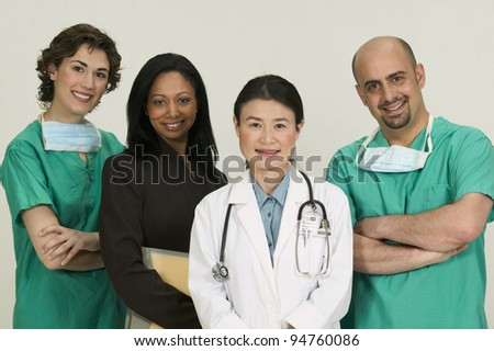 Group of doctors - stock photo