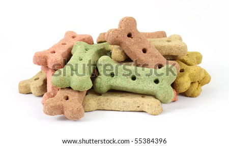 Group of dog biscuits - stock photo