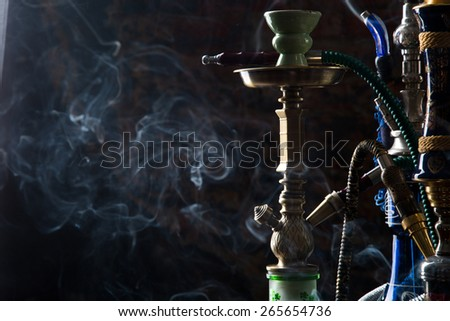 group of eastern hookahs