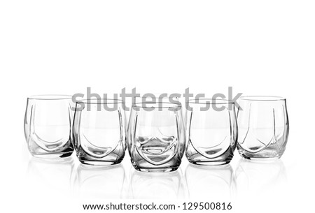 Group of elegant glass isolated on a white background - stock photo
