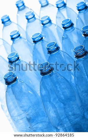 group of empty plastic bottles