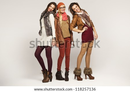 Group of female friends - stock photo
