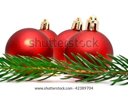 group of fir-tree marbles and fir-tree on a white background