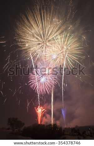 Group of Firework - stock photo