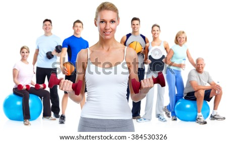Group of fitness people. - stock photo