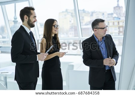 Group Formally Dressed Male Female Employees Stock Photo Royalty