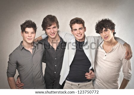 Group of four friends - stock photo