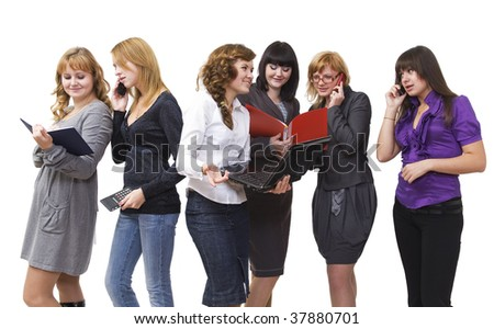 Group of girls I show office work