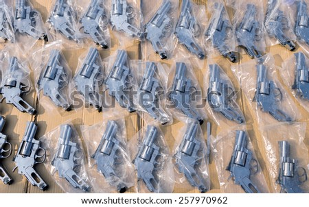 Group of guns. - stock photo