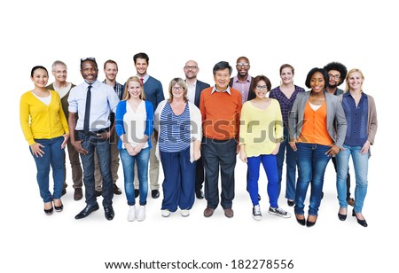 Group Of Happy Multi-Ethnic and Diverse People - stock photo