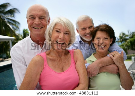 Group of happy senior people