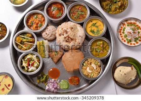 Indian Restaurent Thali Food