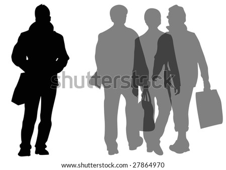 group of male shoppers