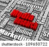 Group of Media Research related words. Part of a business concept series. - stock photo