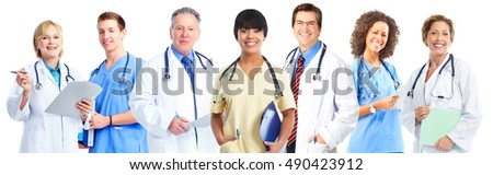 Group of medical doctors and nurses.