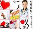 Group of medical photos. Collage. Health care. - stock photo