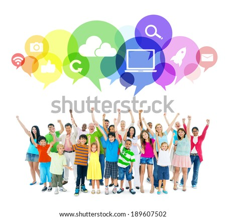 Group of mixed age people - stock photo