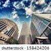 group of modern buildings in...