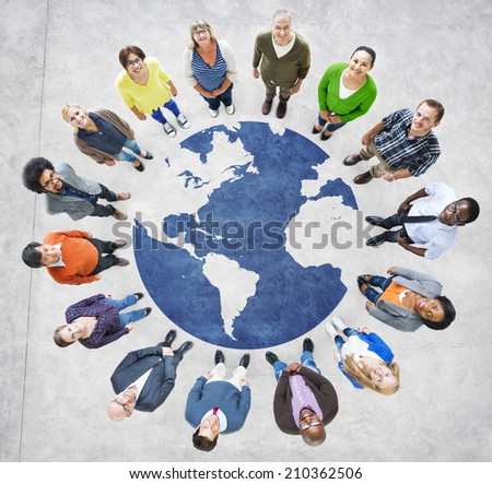 Group of Muliethnic People Around the World - stock photo