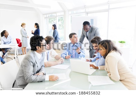 Group of Multi Ethnic Business People Having a Meeting - stock photo