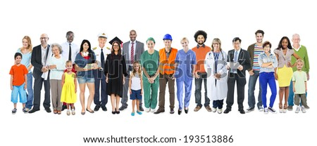 Group of Multiethnic Diverse Mixed Occupation People - stock photo