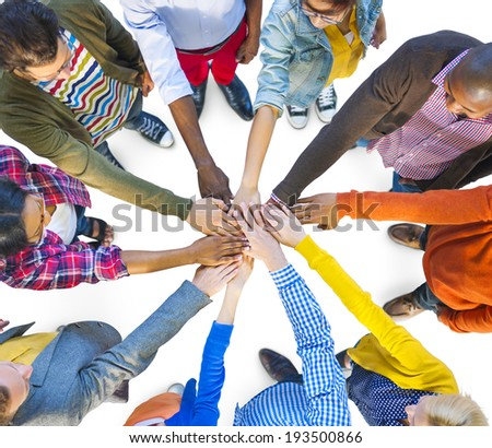 Group of Multiethnic Diverse People Teamwork - stock photo