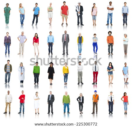 Group of Multiethnic Mixed Occupation People - stock photo