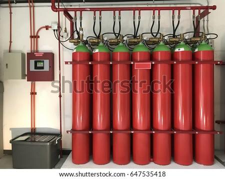 Group Nitrogen Gas Storage Tank Fire Stock Photo Edit Now