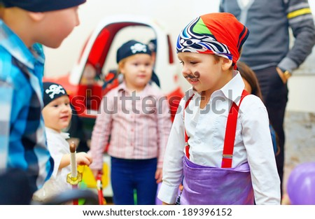 group of painted kids on party - stock photo