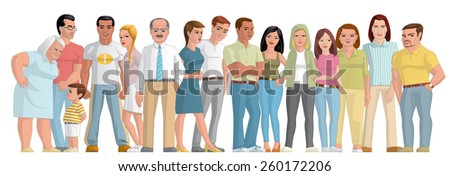 Group of people  - stock photo