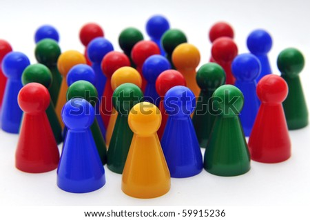 group of people - abstract - stock photo