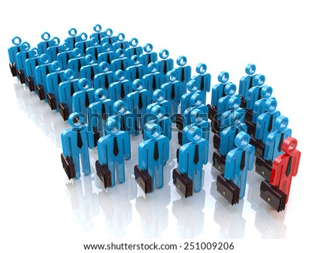Group of people and leader. Leadership concept - stock photo