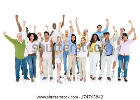 Group of People Celebration - stock photo