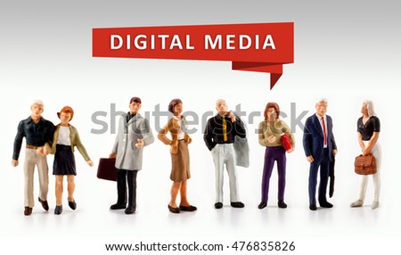 group of people â?? Digital Media Technology Concept