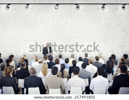 Group of People in Seminar - stock photo