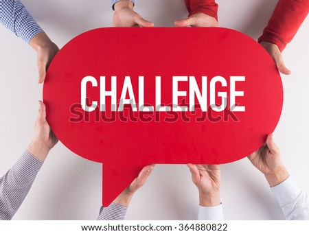 Group of People Message Talking Communication CHALLENGE Concept - stock photo