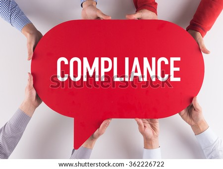 Group of People Message Talking Communication COMPLIANCE Concept - stock photo