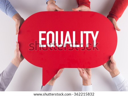 Group of People Message Talking Communication EQUALITY Concept - stock photo