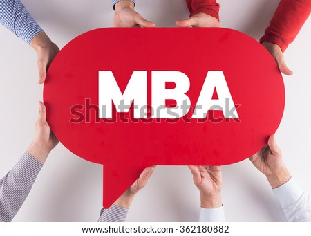Group of People Message Talking Communication MBA Concept - stock photo