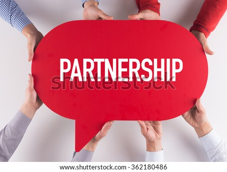 Group of People Message Talking Communication PARTNERSHIP Concept - stock photo