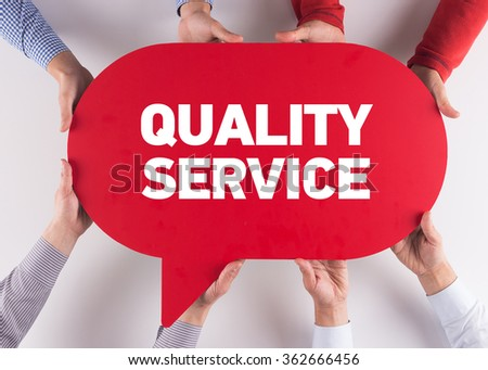 Group of People Message Talking Communication QUALITY SERVICE Concept - stock photo