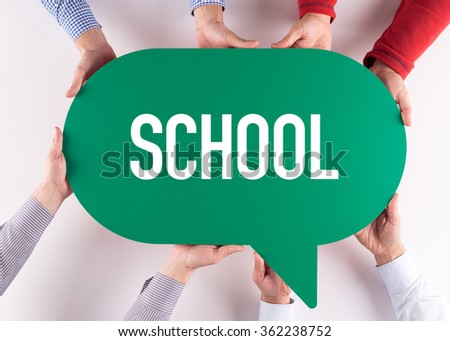 Group of People Message Talking Communication SCHOOL Concept - stock photo