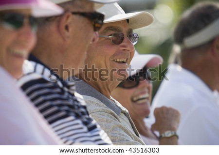 Group of people smiling together - stock photo
