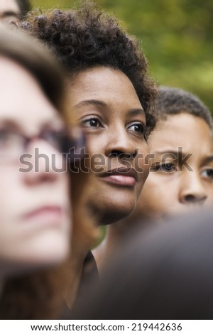 Group of people standing together - stock photo